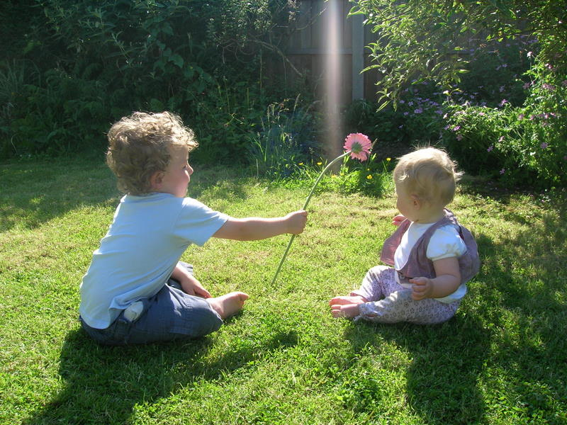 Taking care of the garden at the summers' end