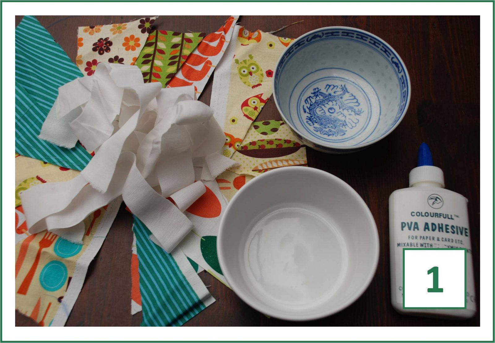 How to make a Fabric Mâché Bowl (frugal crafts)