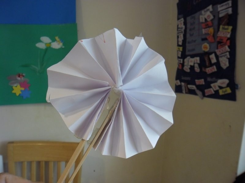 making a fan