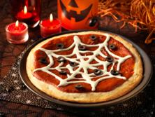 Easy Halloween Recipe: Cobweb Pizza