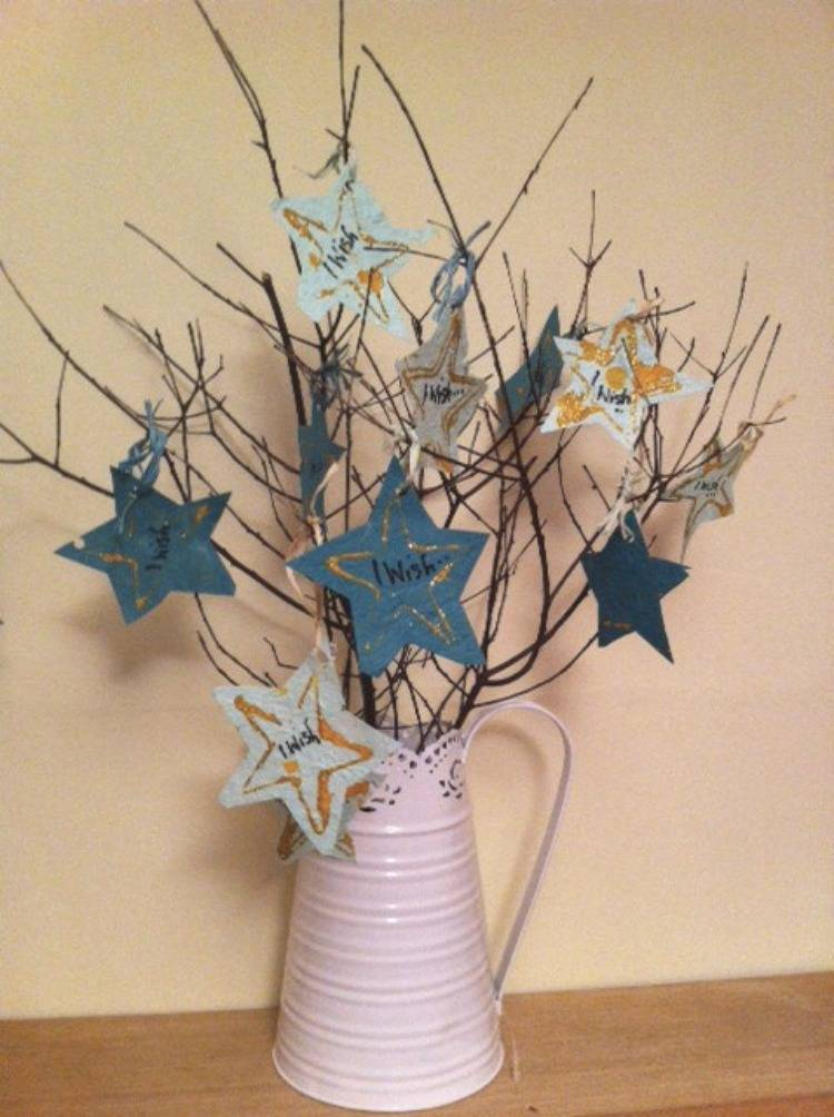 Craft Activity for New Year, wishing tree craft, wishing tree for new year