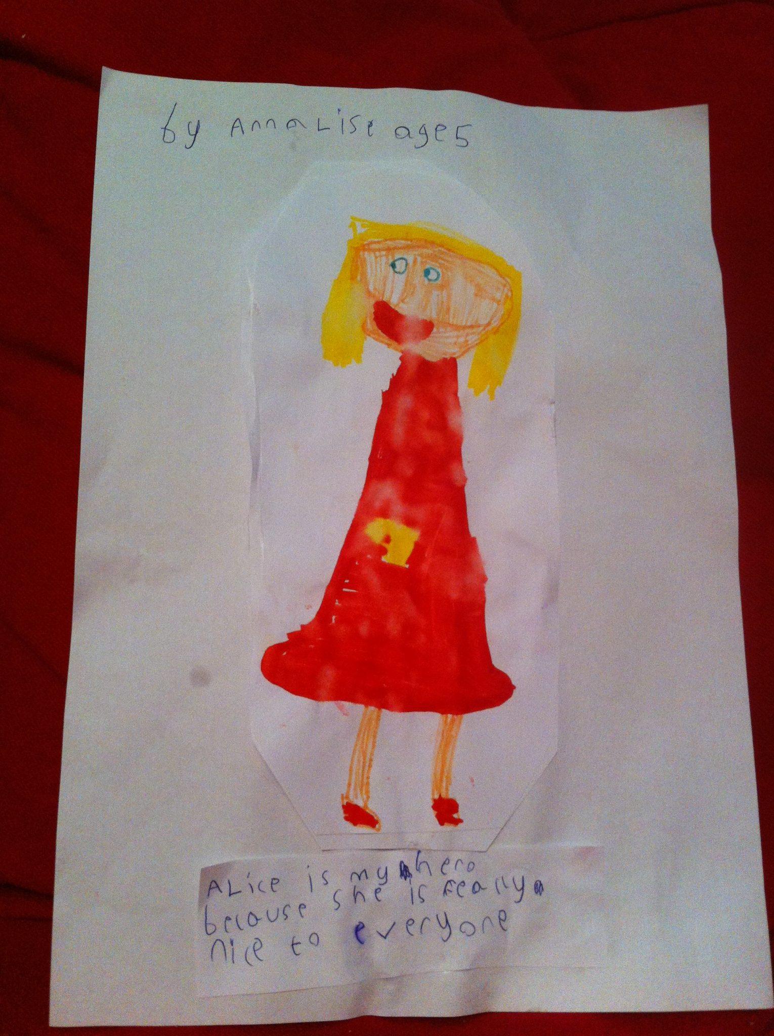 My Hero by Annalise, age 5