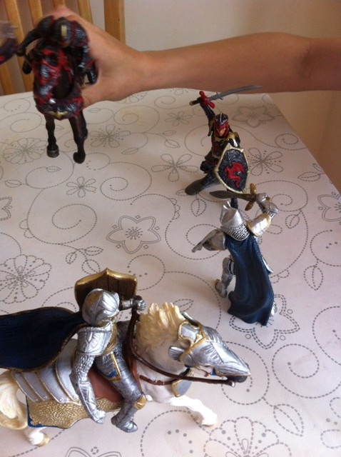 Schleich Dragon Knights and Schleich Griffin Knights