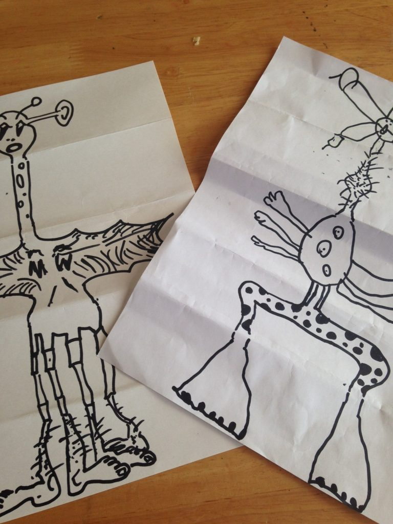 Simple Play Ideas: Folded Paper Monster
