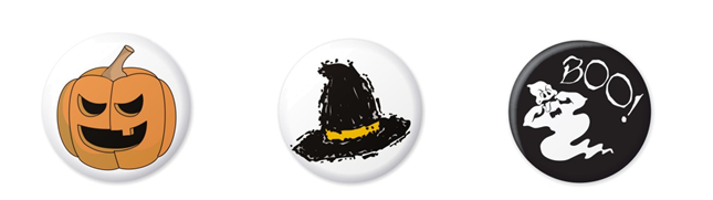 Kids: Design Your Own Spooky Halloween Badge Competition