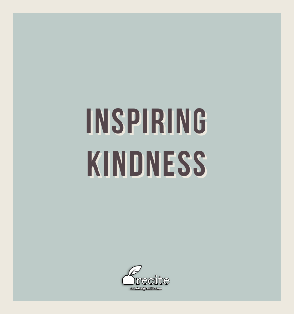 My word for 2015 is Kindness