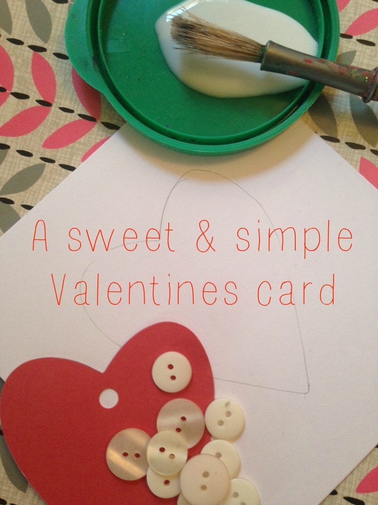 A Sweet and Simple Homemade Valentine Card
