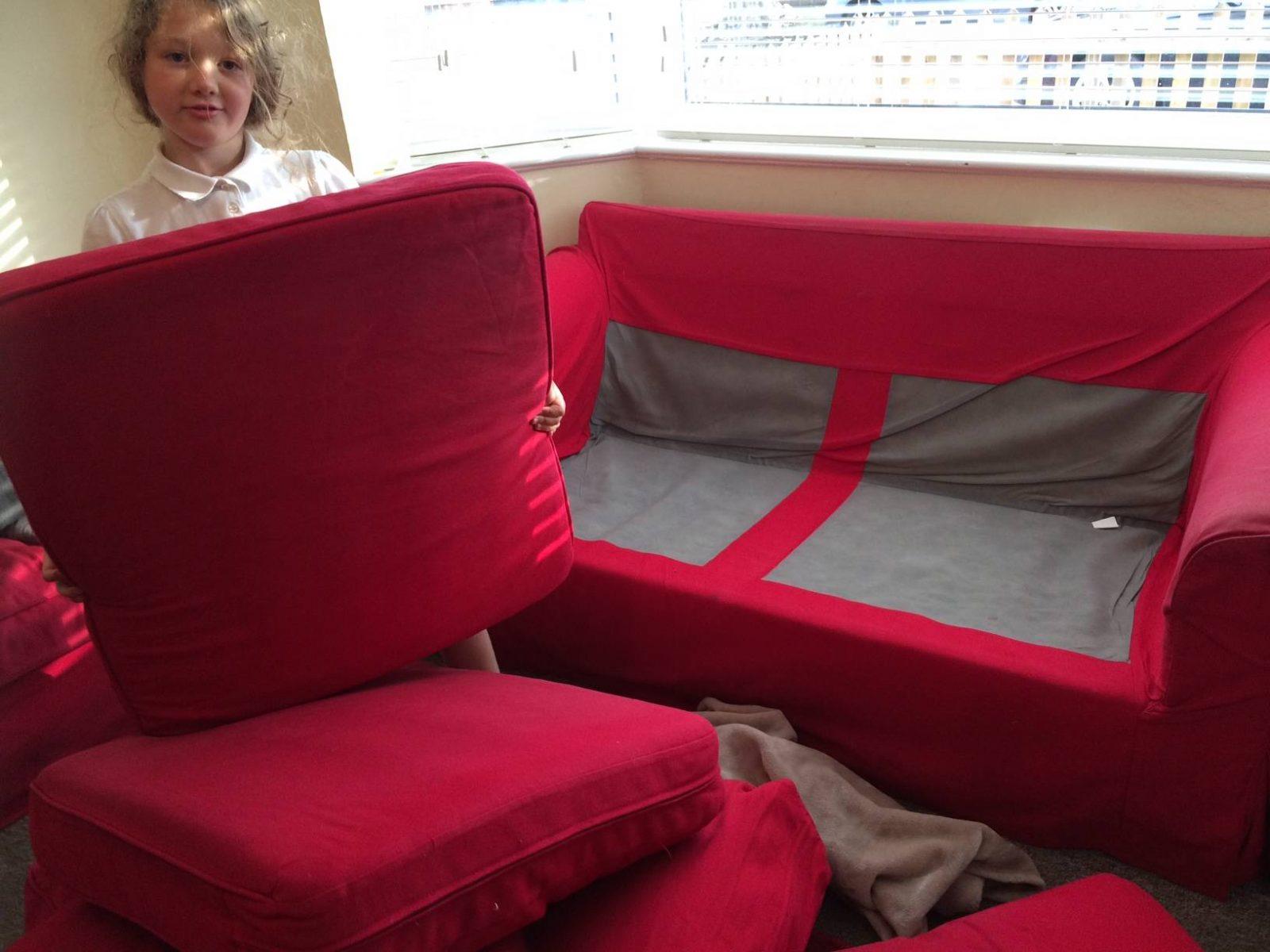 How to make a sofa den