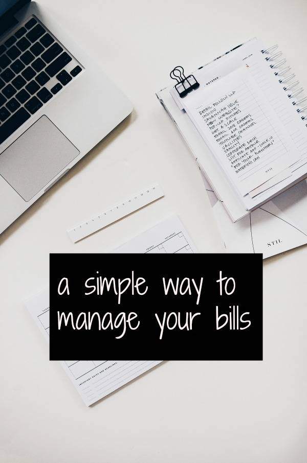 a simple way to manage your bills