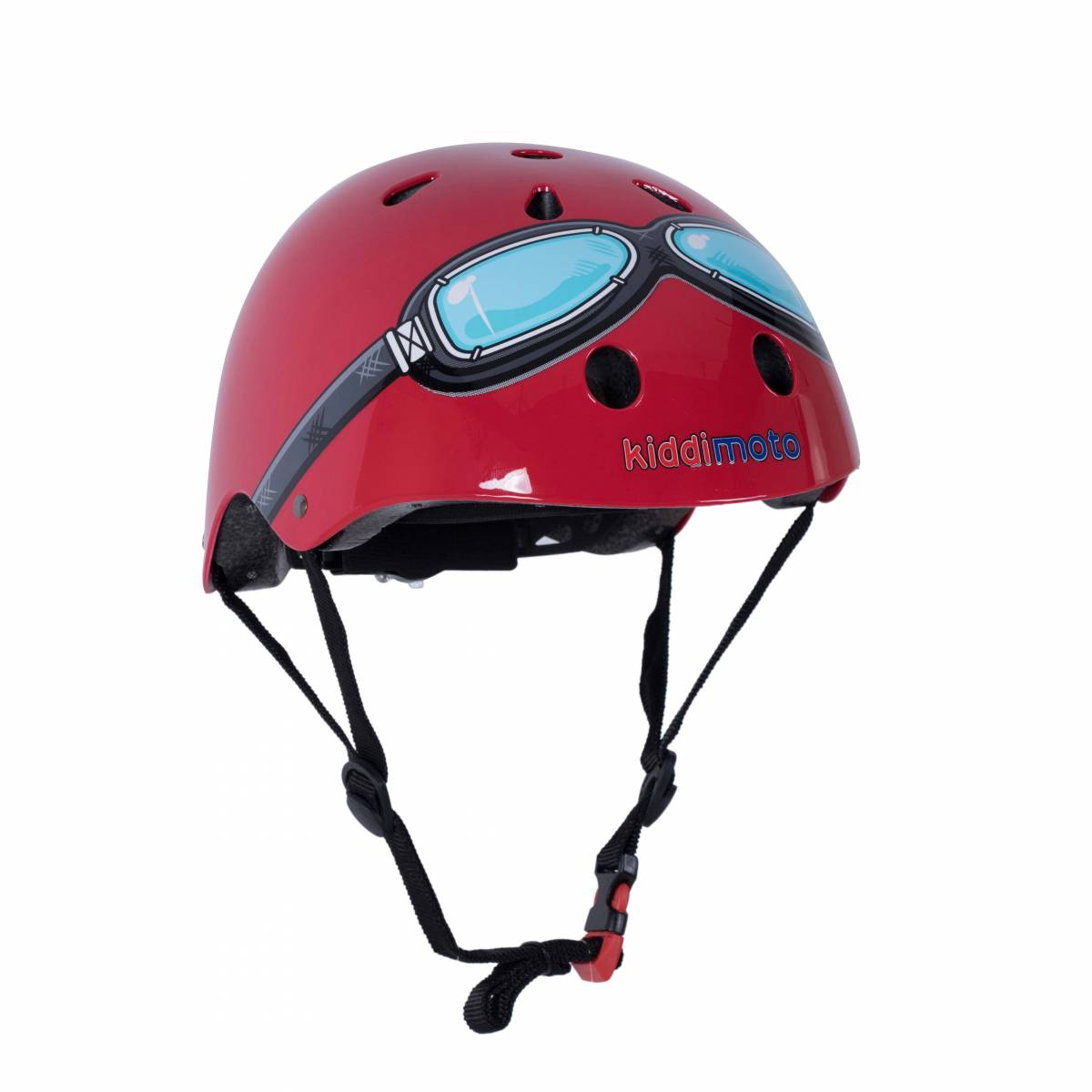 Win a red goggle bike helmet from Kiddimoto worth £30