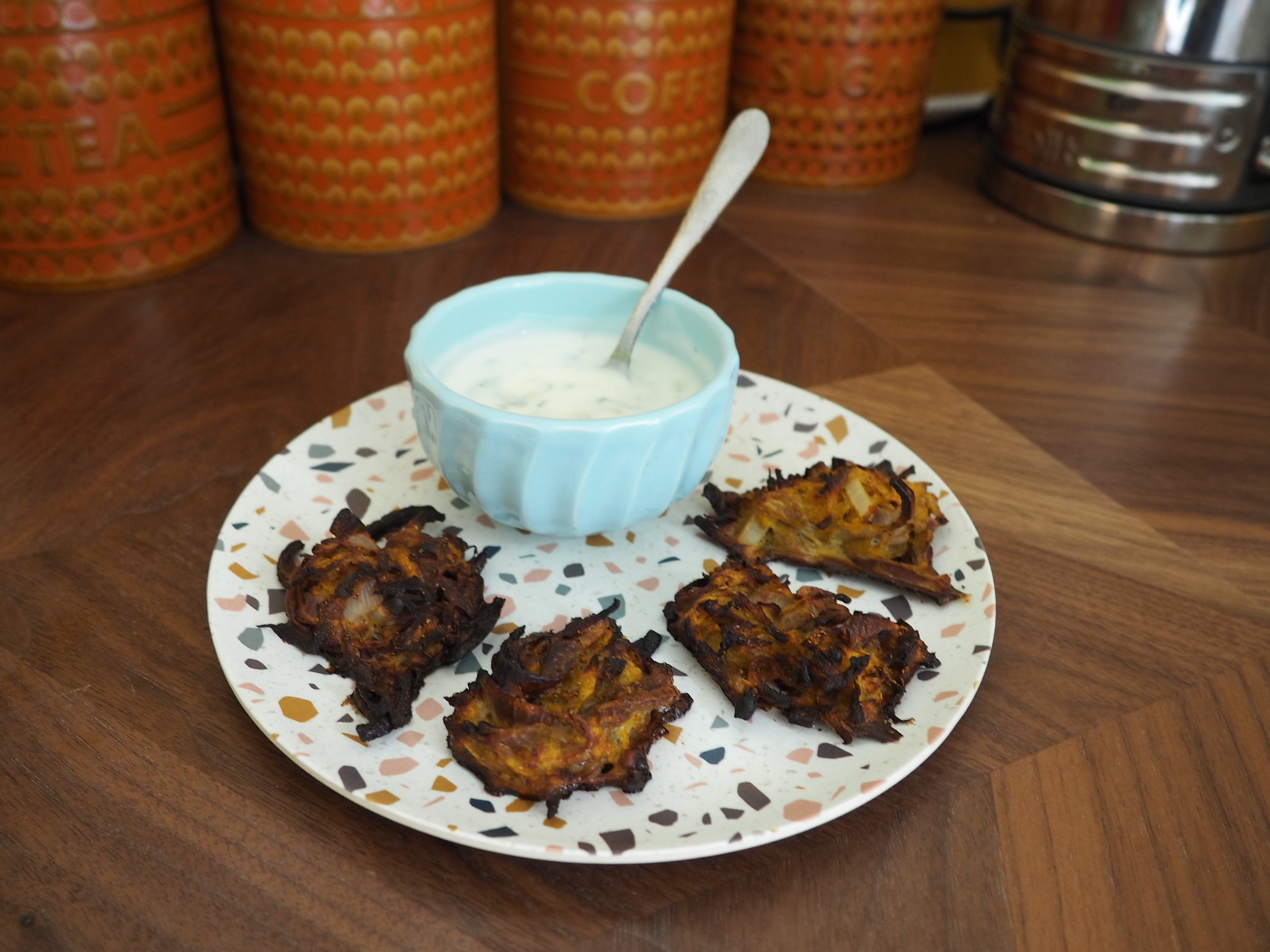 Secret veg onion bhajis