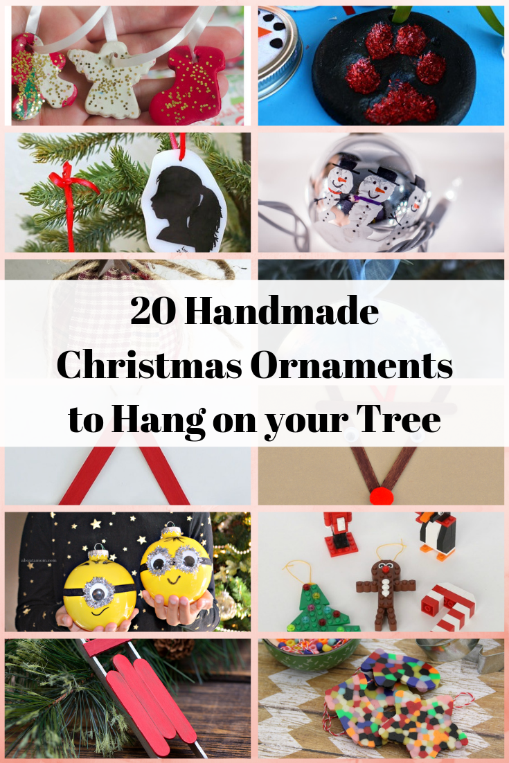 20 handmade Christmas Ornaments to hang on your tree