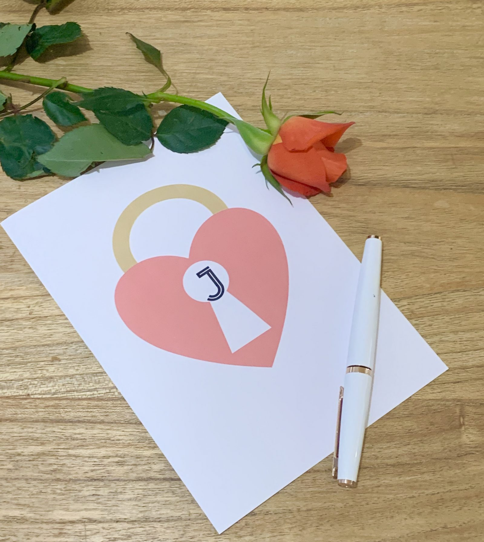 Designing a Valentine's card with Monogram Maker