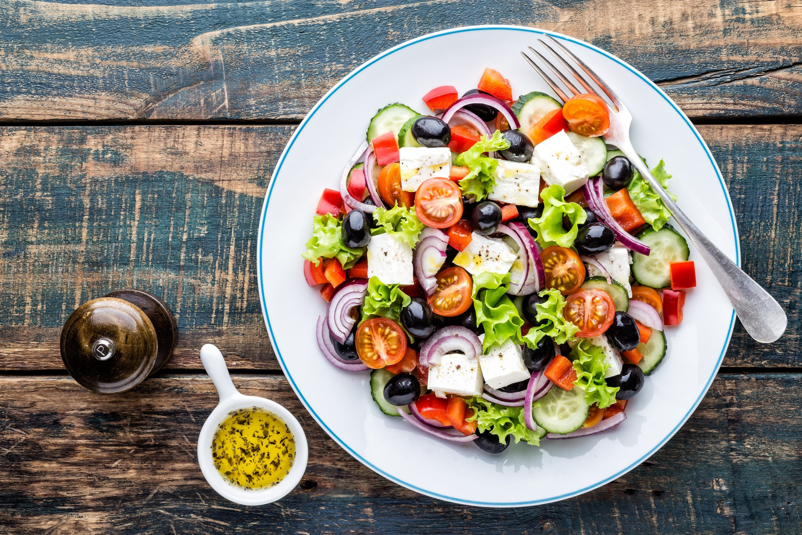 Greek salad with tomatoes